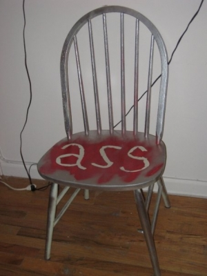 Ass chair (chaise pour un con)