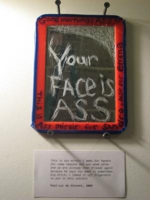 Ass mirror (miroir pour un con)
